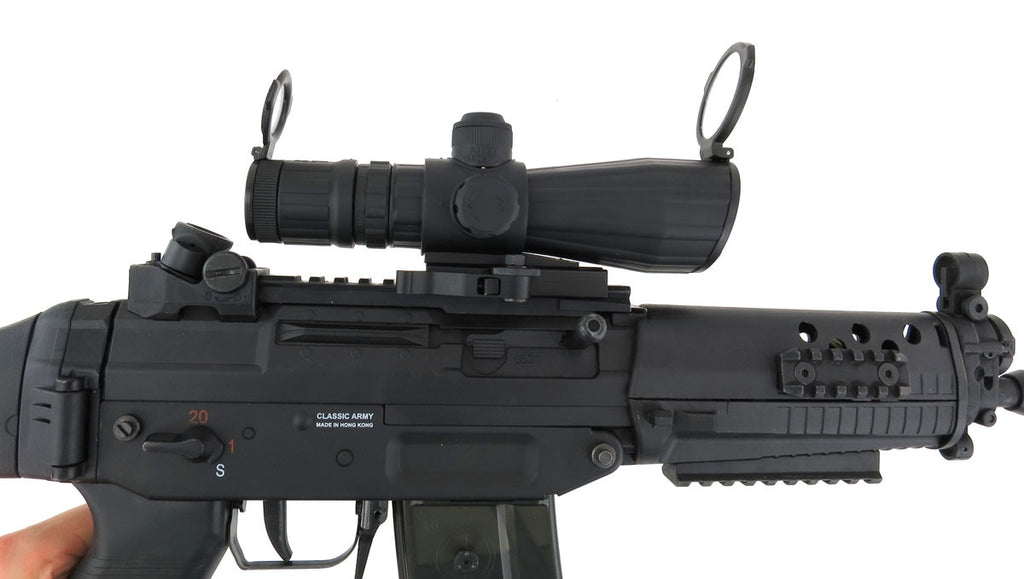 NcSTAR Mark III Series 3-9x42 Scope with Blue Illuminated Rangefinder Reticle and Laser