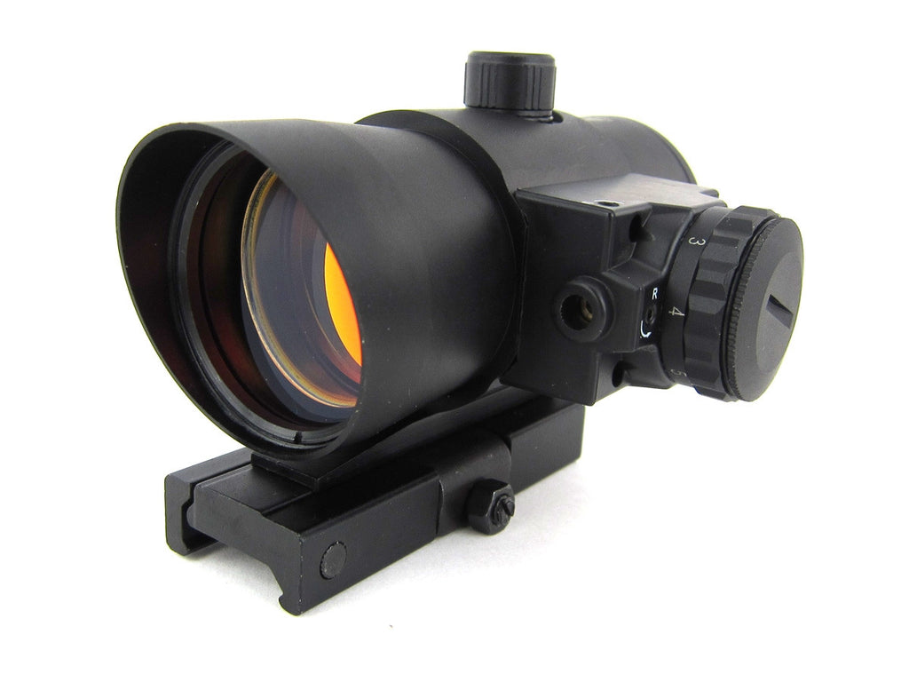 NcSTAR 40mm Red Dot w/ Laser and QD Rail Mount