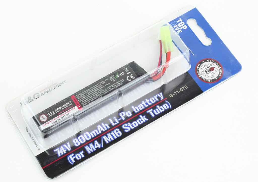 7.4v 800mAh G&G Stick Battery (LiPo) - Airsoft Atlanta