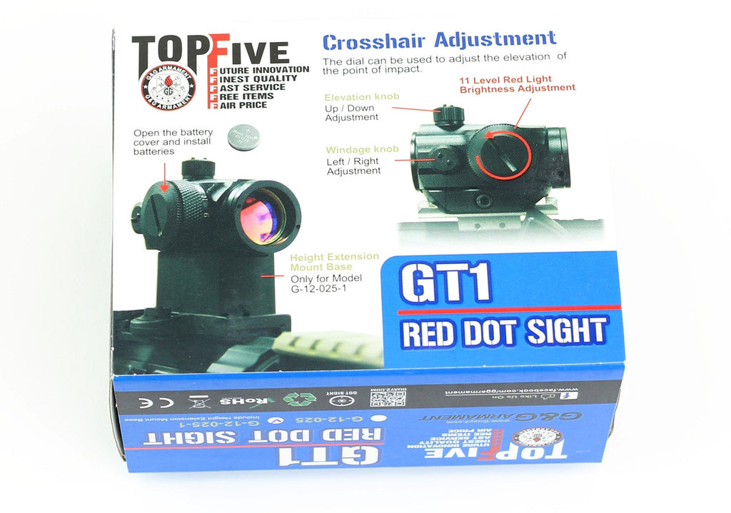 G&G GT1 Red Dot Sight w/ High Mount