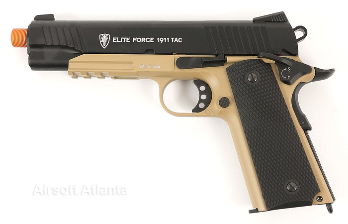 Elite Force 1911 Tactical Blowback Gas Gun (CO2) - Tan