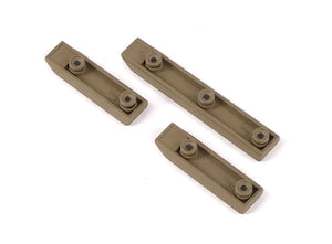 Echo 1 Keymod Rail Mount Set (3 pack) Tan