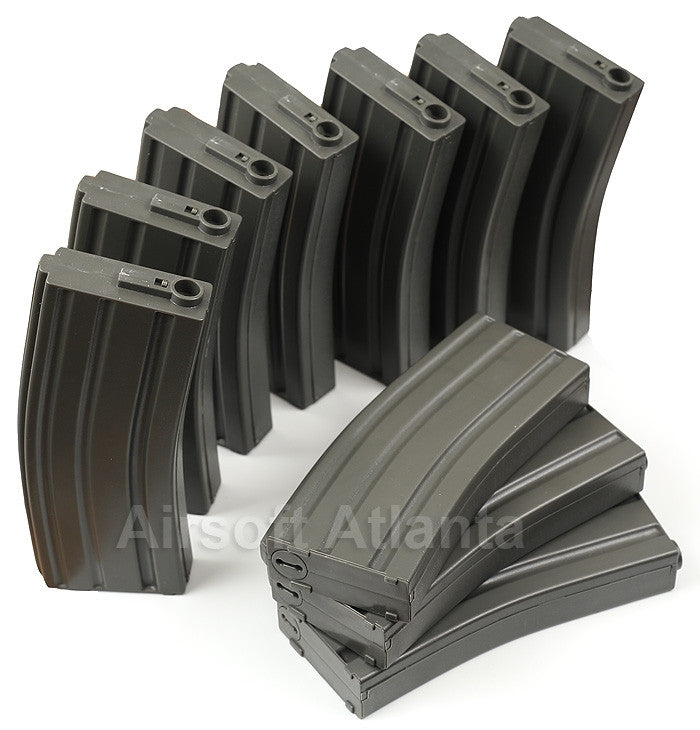 Elite Force M4 AEG Midcap 140-Round Magazine Box Set (10-Pack) Black