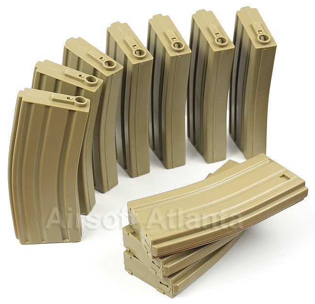 Elite Force M4 AEG Midcap 140-Round Magazine Box Set (10-Pack) Tan