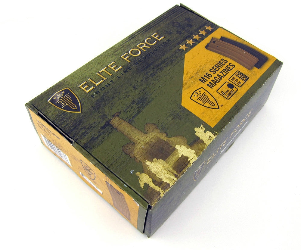 Elite Force M16 140-Round Magazine Box Set (10-Pack) Tan