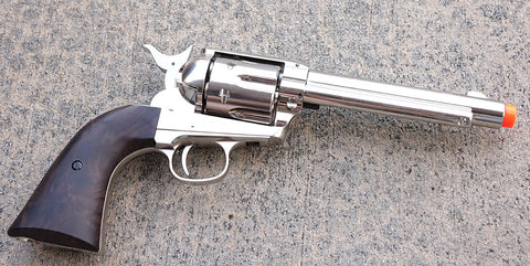 Elite Force Smoke Wagon Silver Gas Revolver CO2