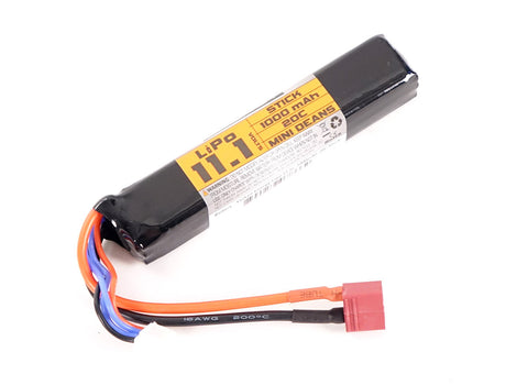 Valken 11.1v 1000mAh Stick Lipo Battery - Deans