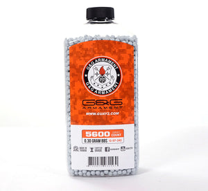 G&G .30g 5600 Rounds Bottle BB - Grey