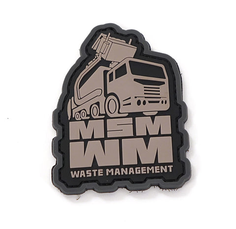 MSM Waste Management Trash PVC Patch