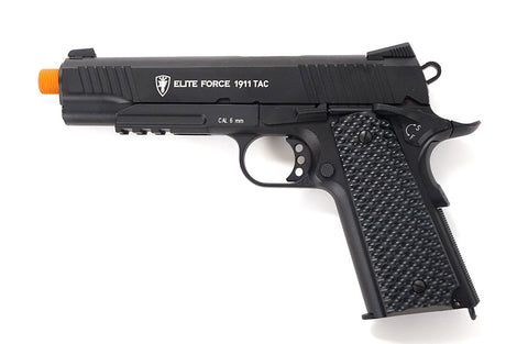 Elite Force 1911 Tactical Blowback Gas Gun (CO2) - Black