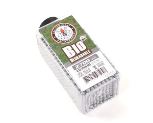 G&G BIO .32g 2700 Rounds Bottle BBs - Grey
