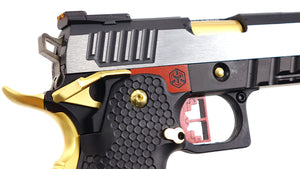 AW Custom Competitor Hi-Capa Green Gas Blowback Pistol - Two Tone Gold