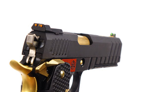 AW Custom Competitor Hi-Capa Green Gas Blowback Pistol - Black/Gold