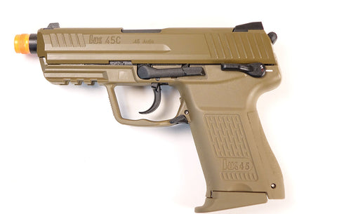 VFC HK45CT Compact Green Gas Full Blowback Pistol - Tan
