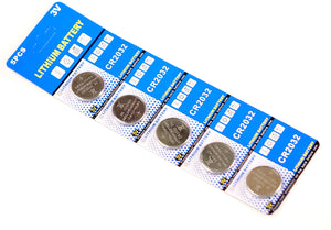 CR2032 Lithium Button Cell Batteries (5-Pack)