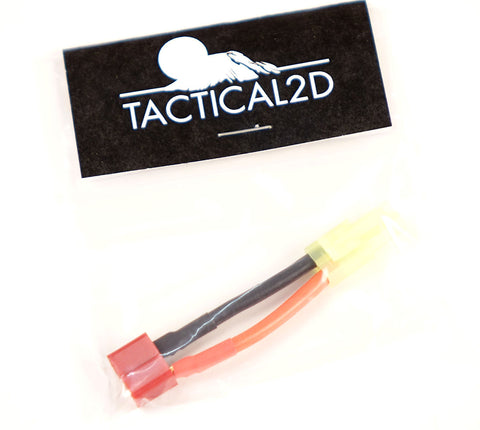 Tactical 2D Male Tamiya to Female Deans Adapter