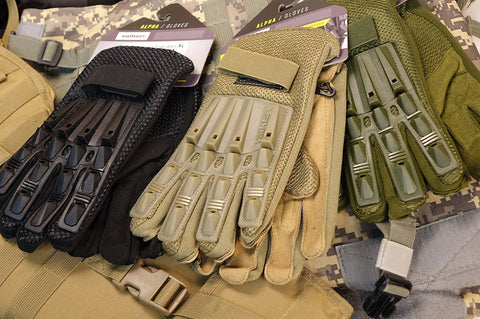 V-Tac Valken Alpha Full Finger Armored Airsoft Gloves