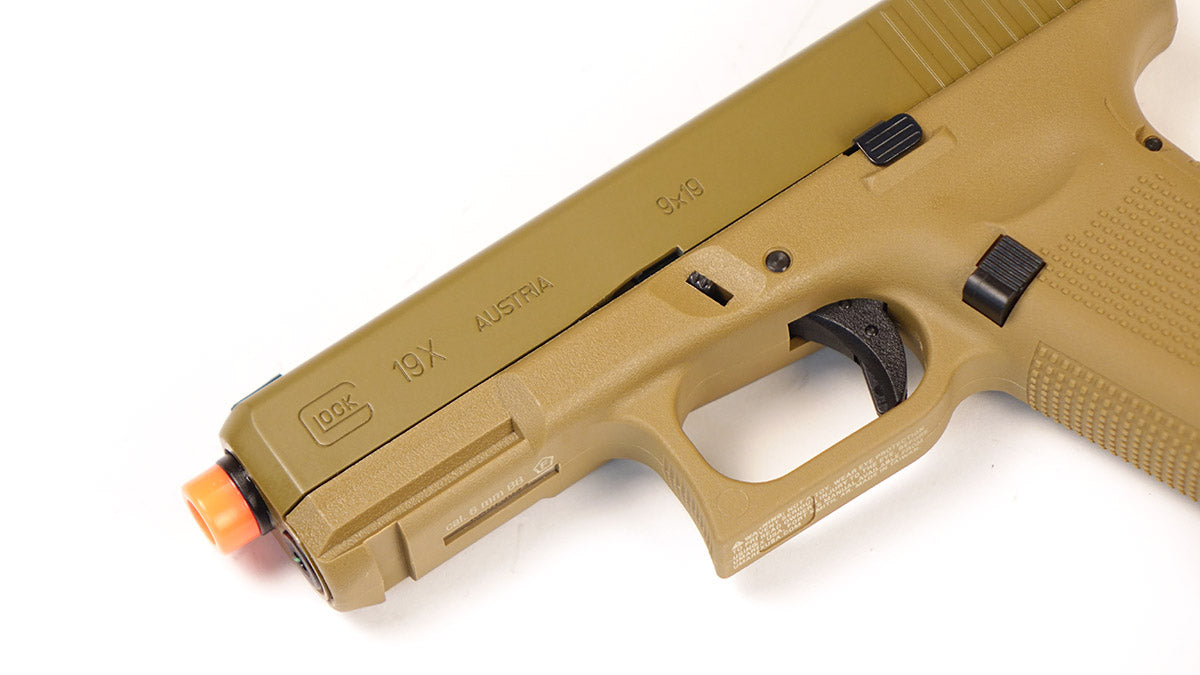Glock 19x Gas Blowback Airsoft Pistol - Coyote Tan