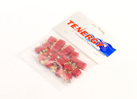 Tenergy Deans Battery Connectors Set M/F (10 Pack)