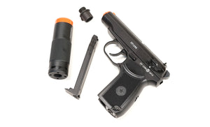 ASG PM2 ICS non-blowback Co2 Gas Pistol w/Suppressor