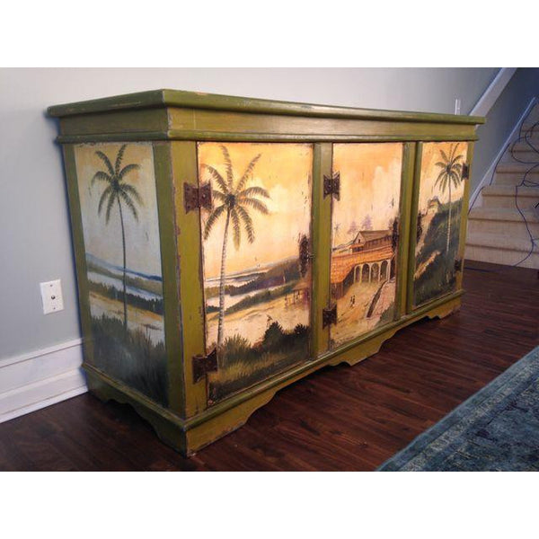 Artiero Brazil Hand-Painted Credenza side view