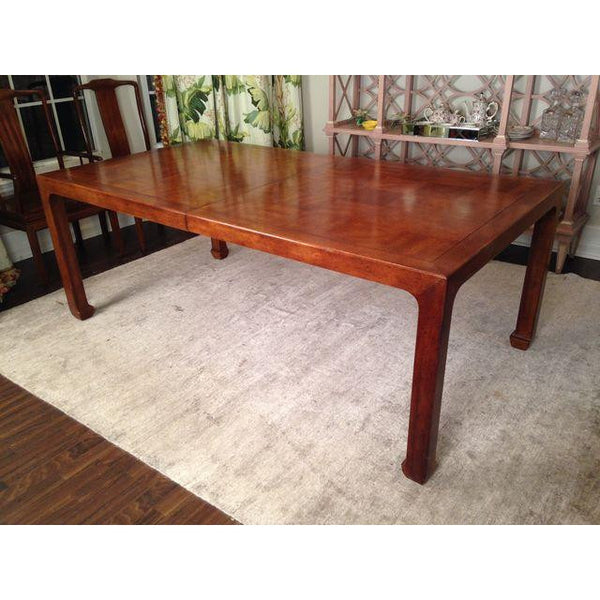 Henredon Asian Solid Mahogany Dining Table