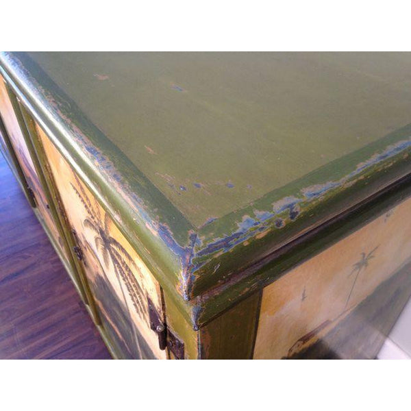 Artiero Brazil Hand-Painted Credenza top close up