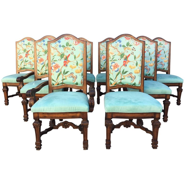 Set Of Eight Louis Xiv Style Chinoiserie Dining Chairs Marjorie And Marjorie