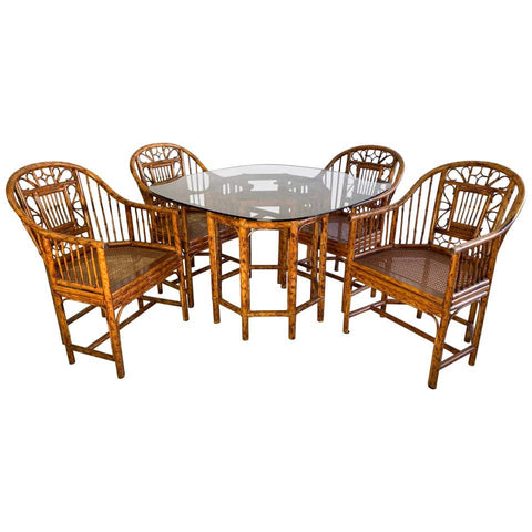 Brighton Pavilion Rattan Dining Set 4 Chairs and Table