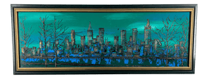 1970s Cityscape Landscape Abstract Painting