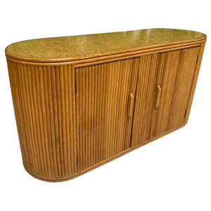 Rattan Split Reed Oval Credenza