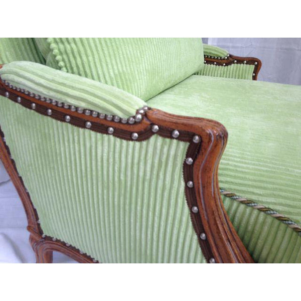 Taylor King Bergère Club Chair With Ottoman