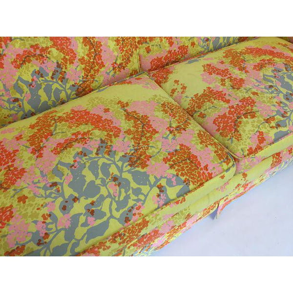 Dorothy Draper Hollywood Regency Floral Sofa