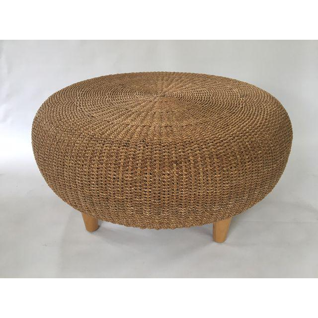 Super Round Woven Rattan Wicker Ottoman Coffee Table Pabps2019 Chair Design Images Pabps2019Com