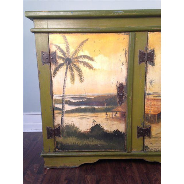 Artiero Brazil Hand-Painted Credenza mural