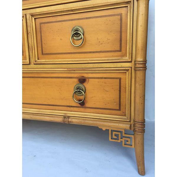 Baker Furniture Chinese Chippendale Bamboo Dresser drawers