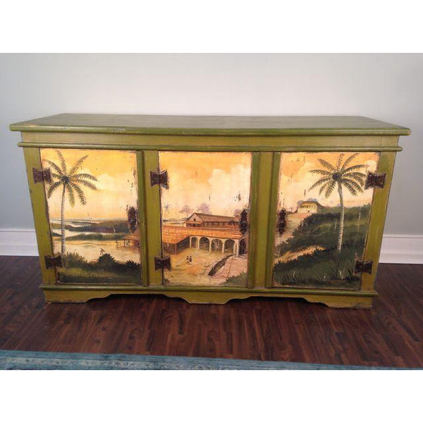 Artiero Brazil Hand-Painted Credenza front