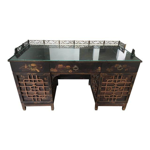 Drexel Heritage Mandalay Asian Chinoiserie Desk