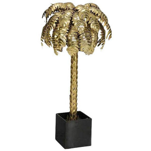 Maison Jansen Style Hollywood Regency Brass Palm Tree Floor Lamp