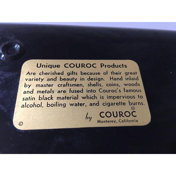 Couroc of Monterey Cat Serving Tray tag