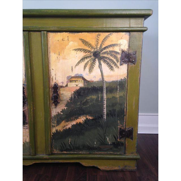 Artiero Brazil Hand-Painted Credenza close up