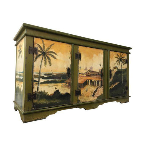 Artiero Brazil Hand-Painted Credenza