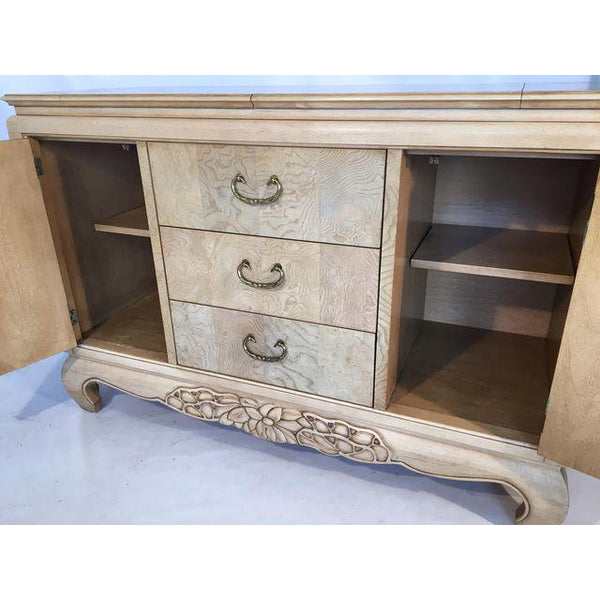 Century Furniture Burlwood Asian Chinoiserie Server inside