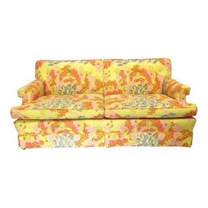 Dorothy Draper La La Land Hollywood Regency Floral Sofa