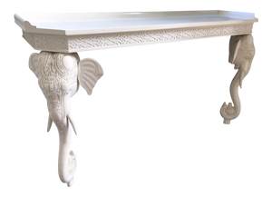 Gampel Stoll Sculptural Carved Elephant Console Table