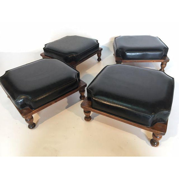 Set of 4 Mid Century Stacking Footstools by Ethan Allen