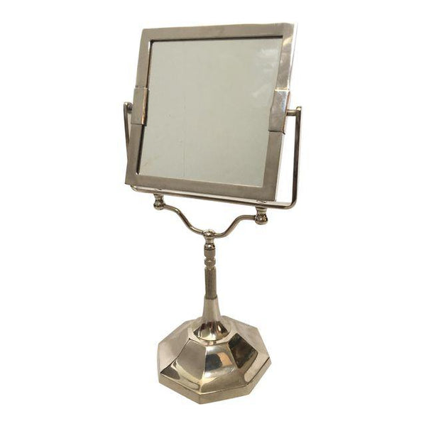 Vintage Square Chrome Vanity Mirror