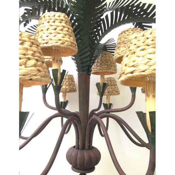 Currey & Co. Large Sculptural Palm Tree Chandelier