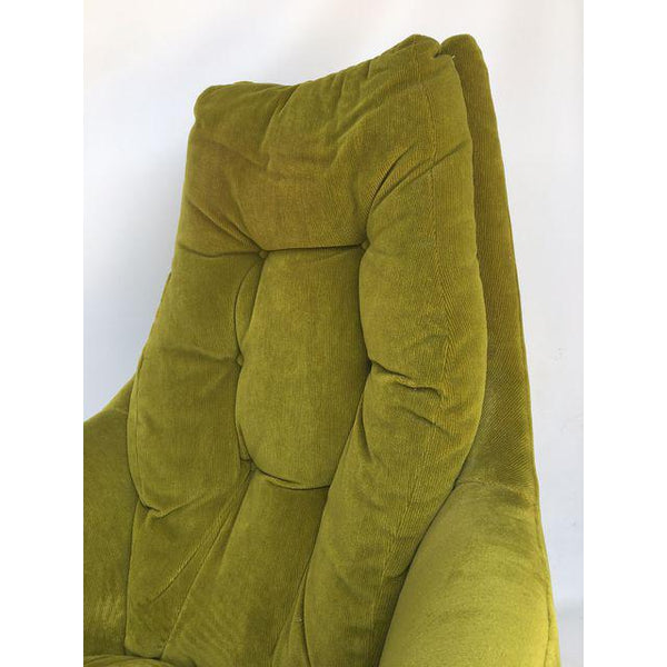 Milo Baughman Thayer Coggin Plush Mod Swivel Lounge Chair