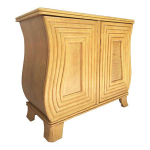 Art Deco Hollywood Regency Curved Wood Cabinet